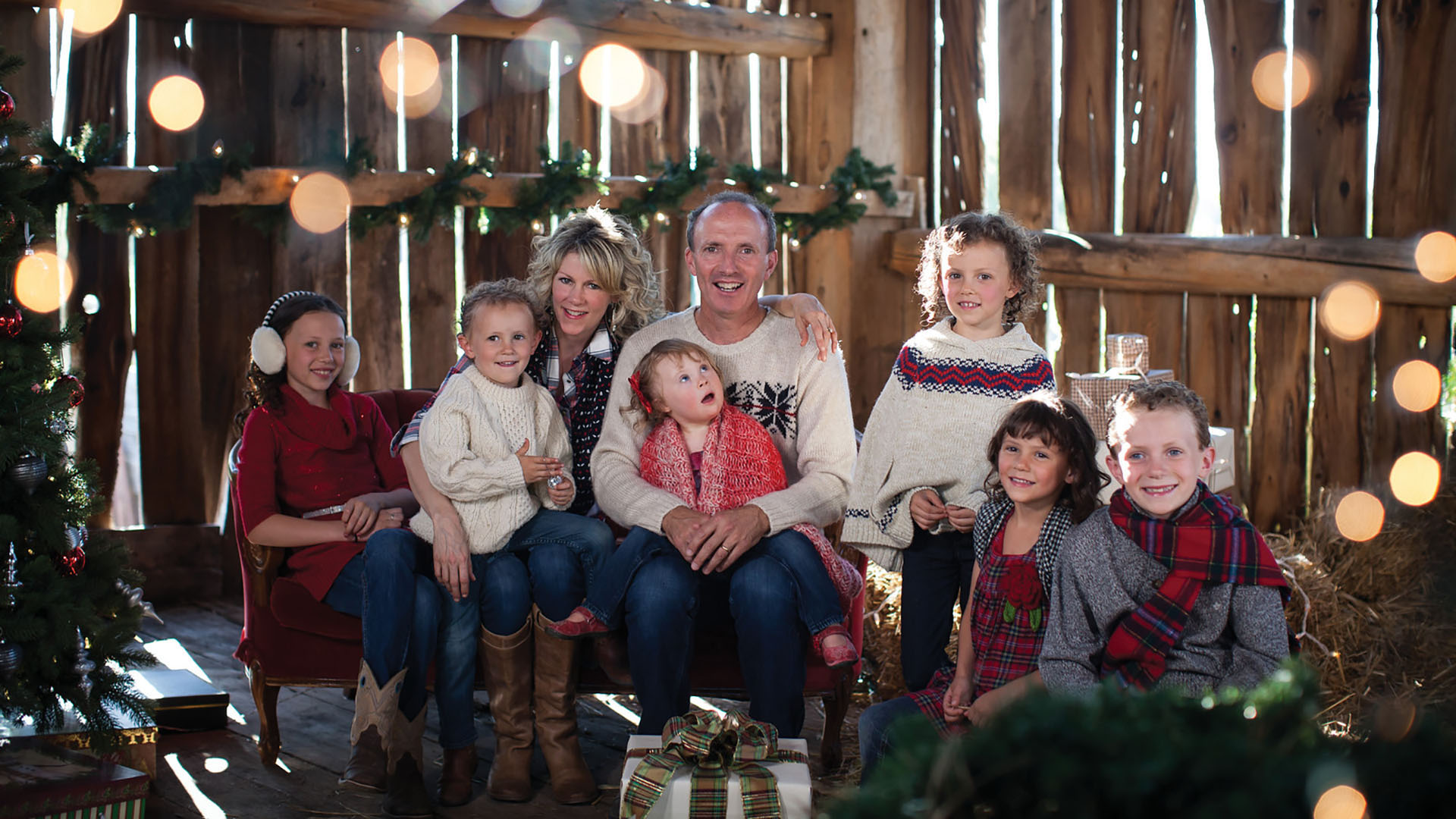 Natalie MacMaster, Donnell Leahy, and their children for A Celtic Family Christmas